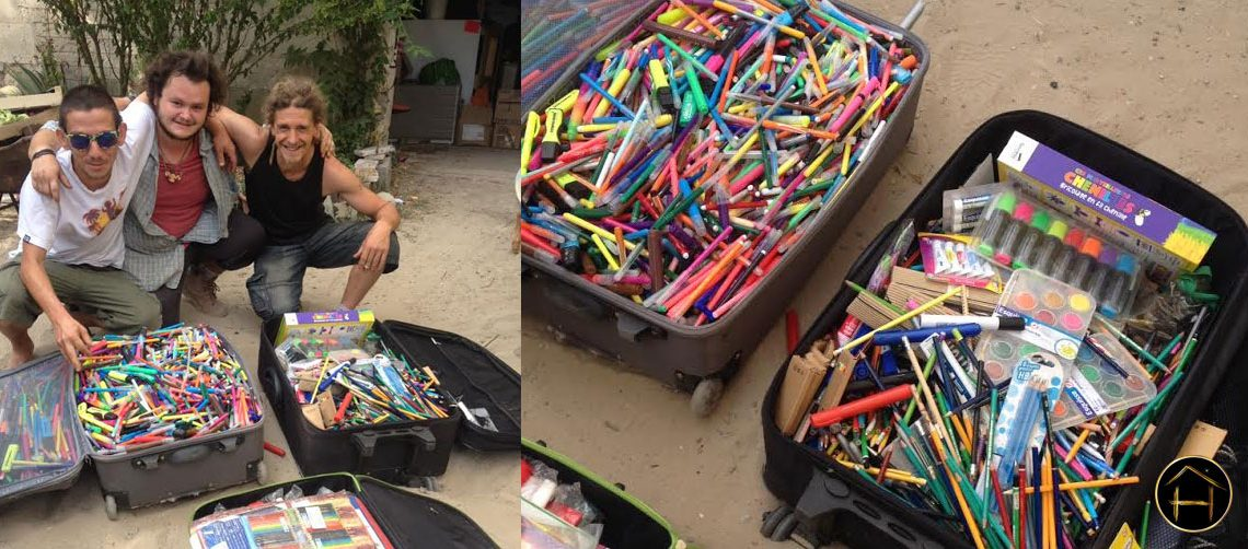 crayon feutre valise humain