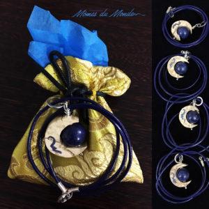 bijoux bleu terre lune