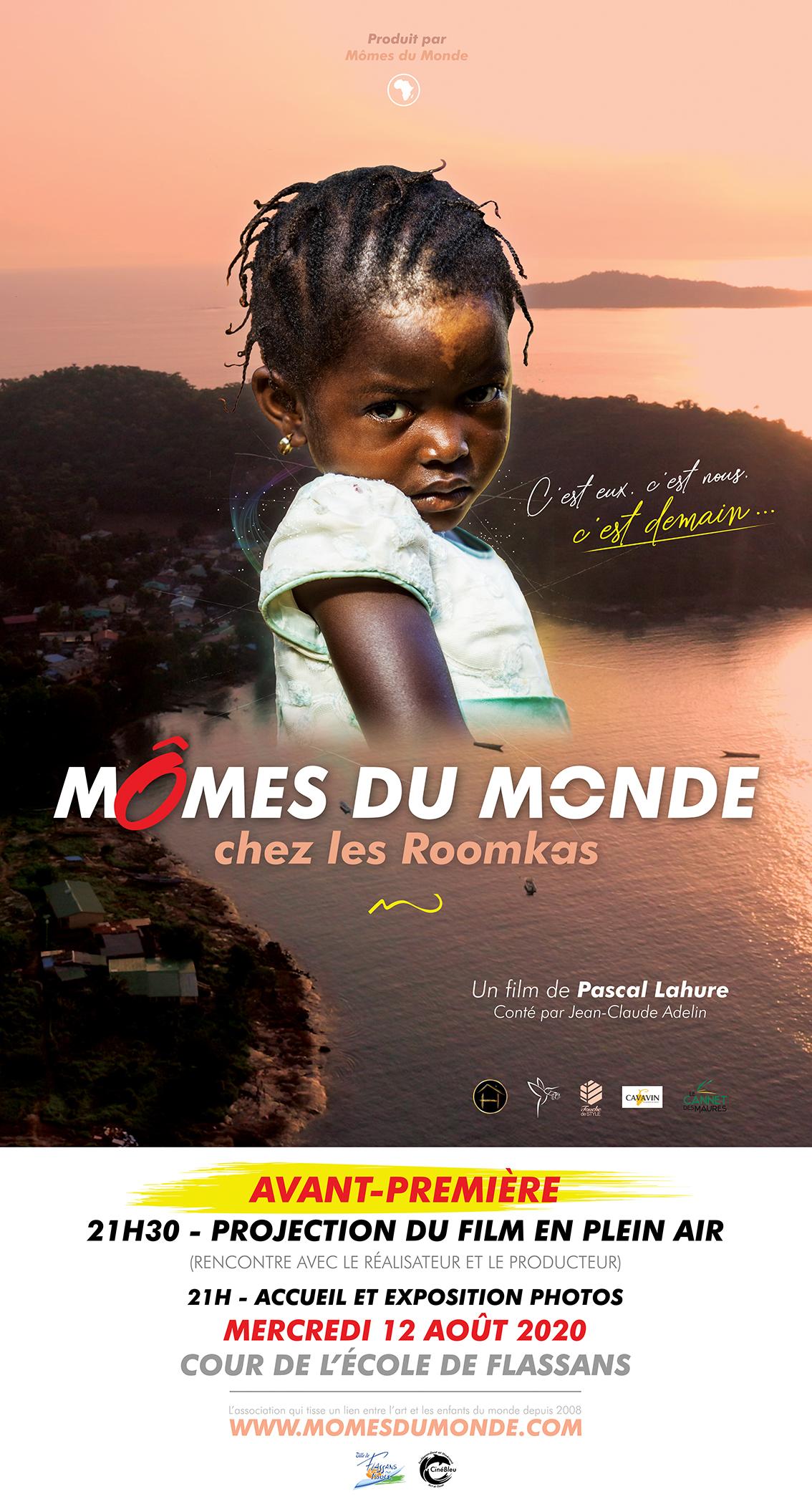 affiche rose enfant afrique